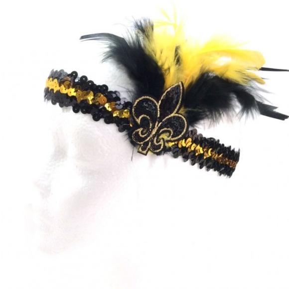 Fleur De Lis New Orleans Saints Sequin Headband  83cff6e8eae